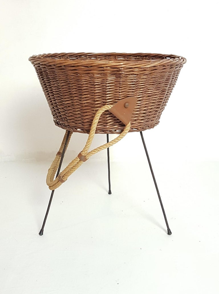 Italian Midcentury Knitting Basket, Italy