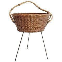 Midcentury Knitting Basket, Italy