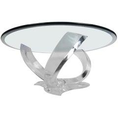 Midcentury Knut Hesterburg Style Lucite Coffee Table