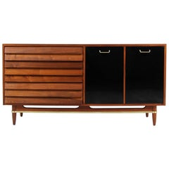 Midcentury Lacquered and Walnut Dresser by Merton Gershun