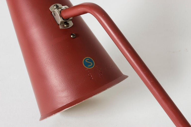 Metal Midcentury Lacquered Table Lamp from ASEA For Sale