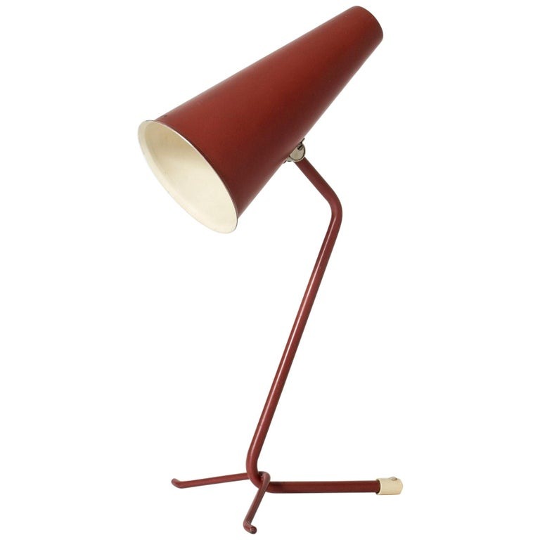Midcentury Lacquered Table Lamp from ASEA For Sale