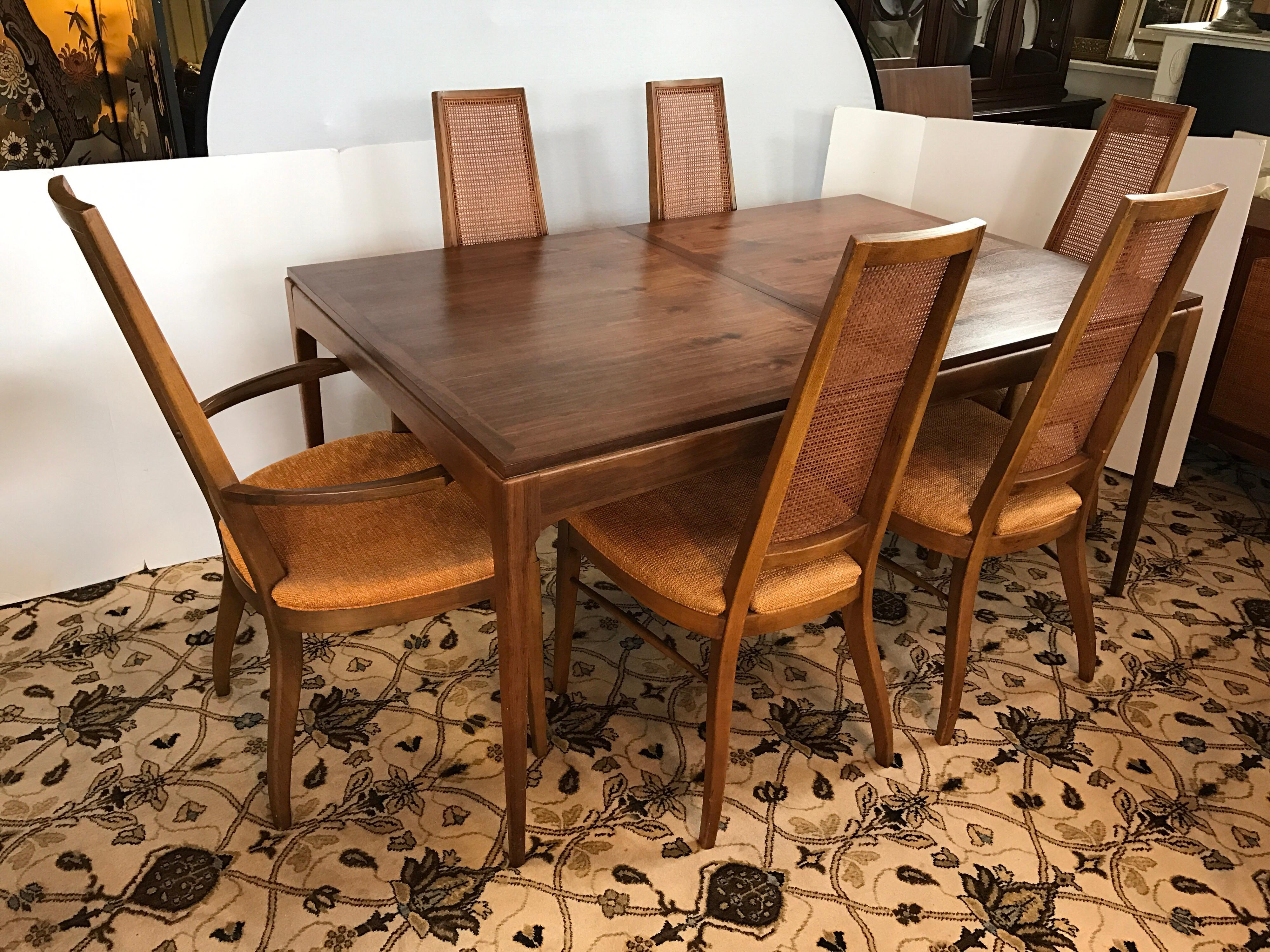 Midcentury Lane Altavista Alta Vista Dining Set Table And Six Matching  Chairs