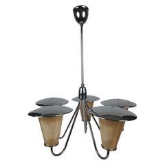 Midcentury Lantern Style Pendant Lamp