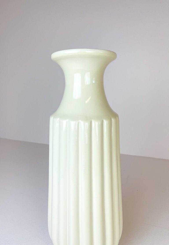 Bauhaus Midcentury Large Ceramic Floor Vase Bo Fajans Ewald Dahlskog, Sweden, 1940s For Sale