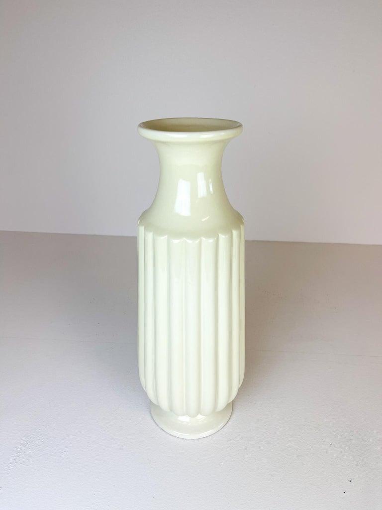 Mid-20th Century Midcentury Large Ceramic Floor Vase Bo Fajans Ewald Dahlskog, Sweden, 1940s For Sale