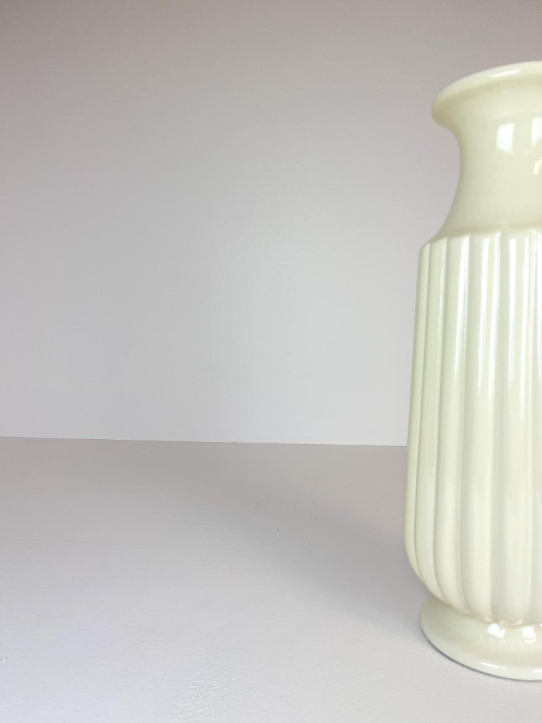 Midcentury Large Ceramic Floor Vase Bo Fajans Ewald Dahlskog, Sweden, 1940s For Sale 1
