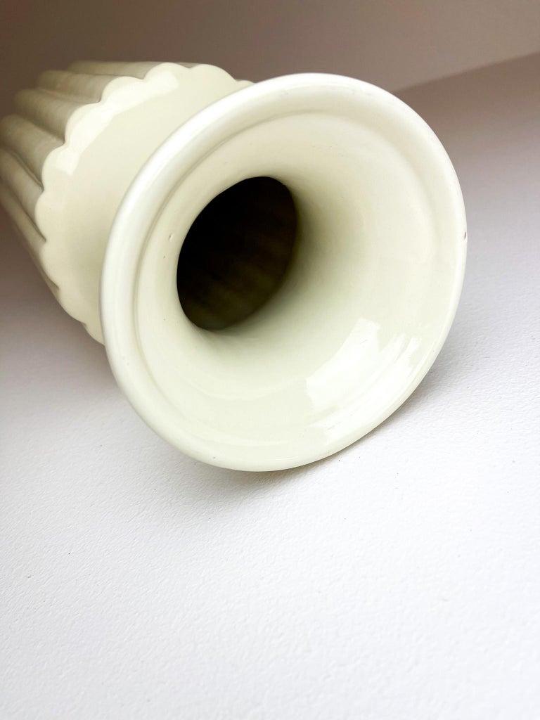 Midcentury Large Ceramic Floor Vase Bo Fajans Ewald Dahlskog, Sweden, 1940s For Sale 3