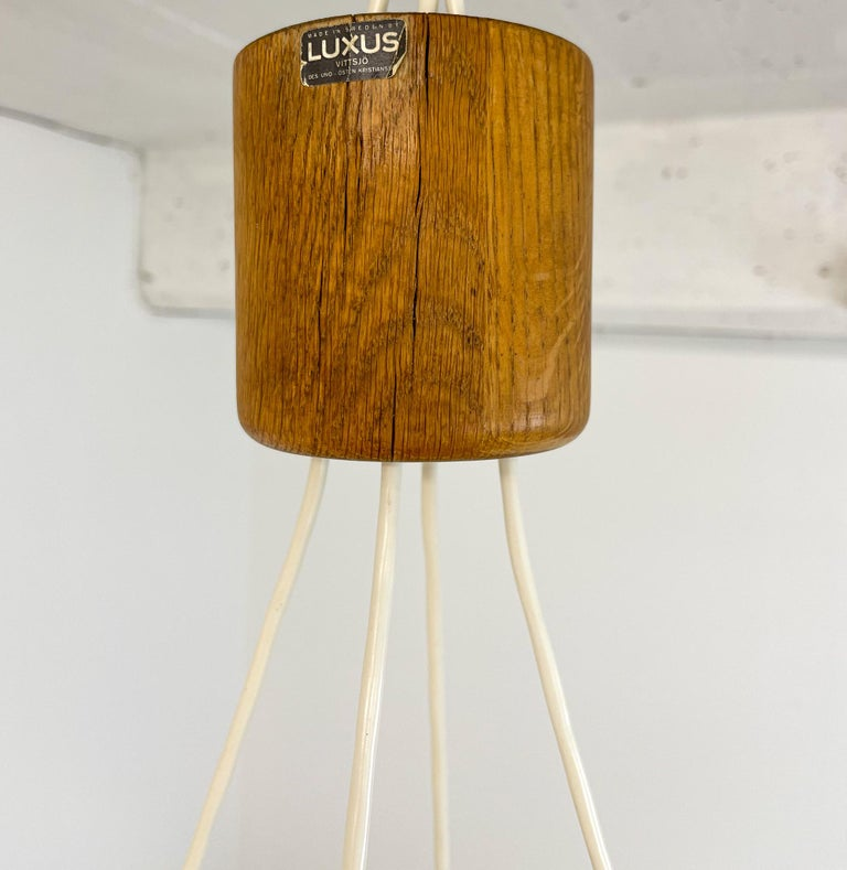 Midcentury Large Chandelier, Pine and Acrylic Luxus Sweden, 1960s For Sale 11