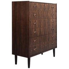 Midcentury Large Chest of 6 Drawers in Rosewood by VV Møbler, 1960s