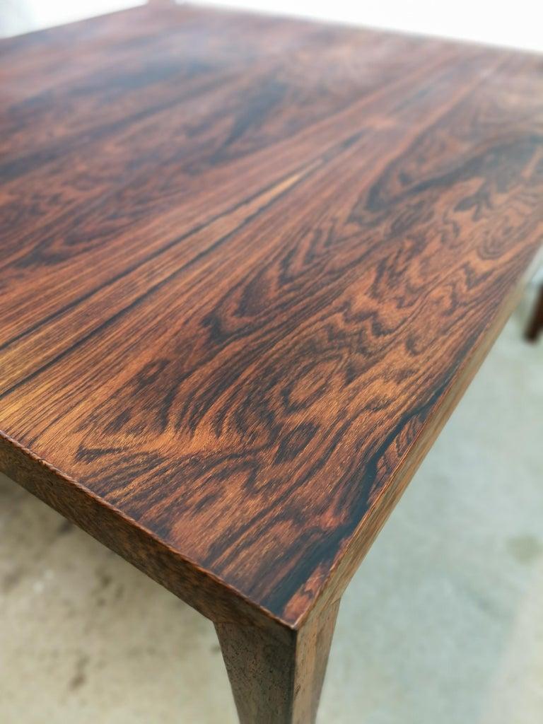 Mid-Century Modern Midcentury Large Coffe Table Rosewood, Severin Hansen Denmark. For Sale