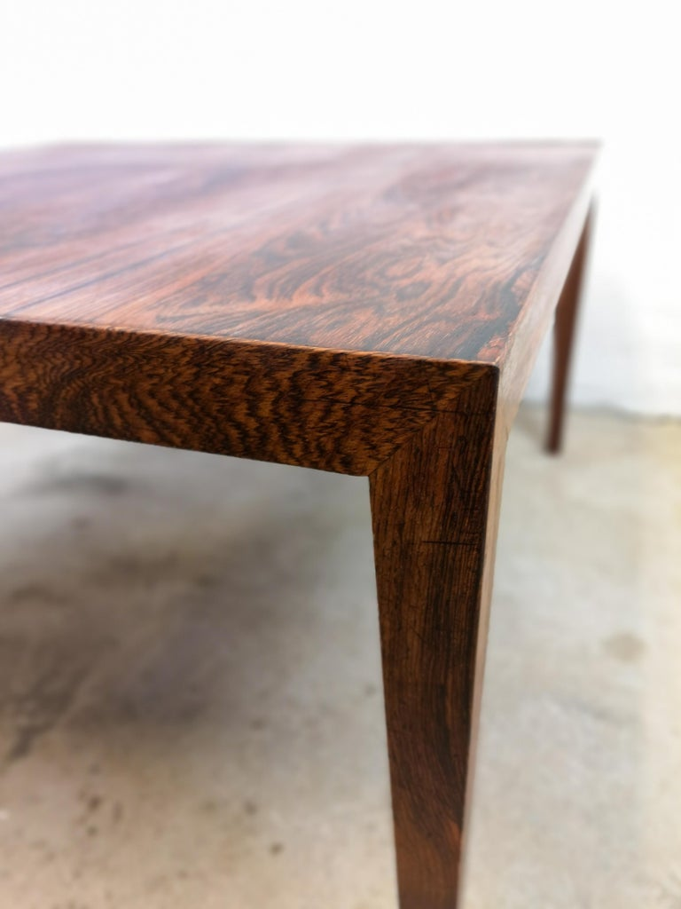 Danish Midcentury Large Coffe Table Rosewood, Severin Hansen Denmark. For Sale
