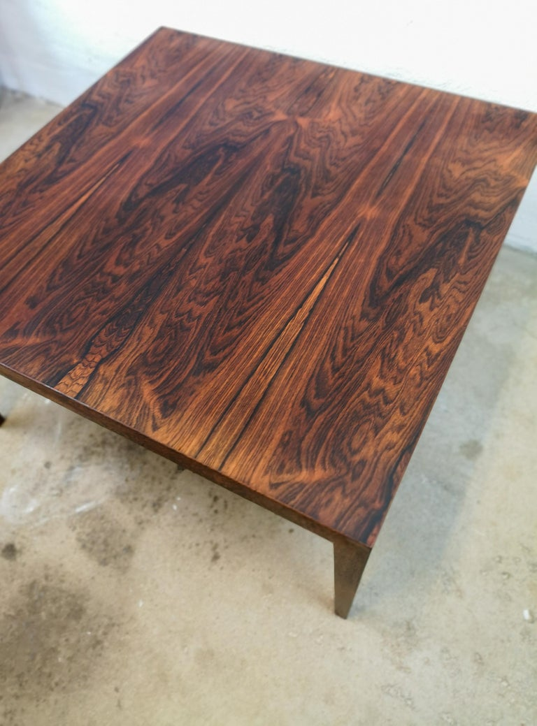 Midcentury Large Coffe Table Rosewood, Severin Hansen Denmark. In Good Condition For Sale In Langserud, SE