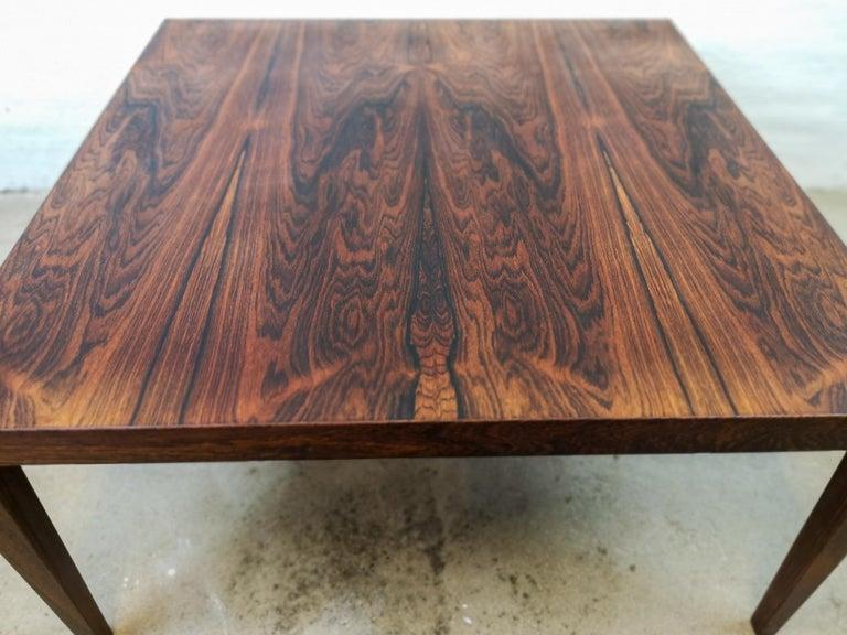 Midcentury Large Coffe Table Rosewood, Severin Hansen Denmark. For Sale 1