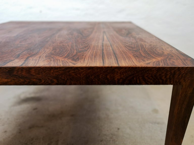 Midcentury Large Coffe Table Rosewood, Severin Hansen Denmark. For Sale 2