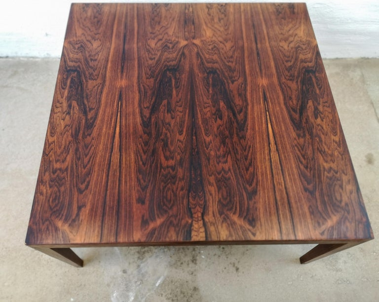 Midcentury Large Coffe Table Rosewood, Severin Hansen Denmark. For Sale 3