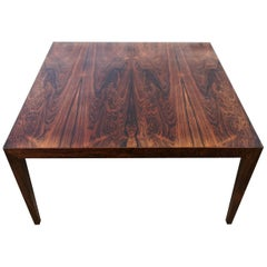 Midcentury Large Coffe Table Rosewood, Severin Hansen Denmark.
