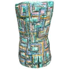 Midcentury Large Italian Polychrome Ceramic Vase
