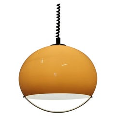 Midcentury Large Pendant Meblo Designed by Harvey Guzzini, Space Age, 1970s