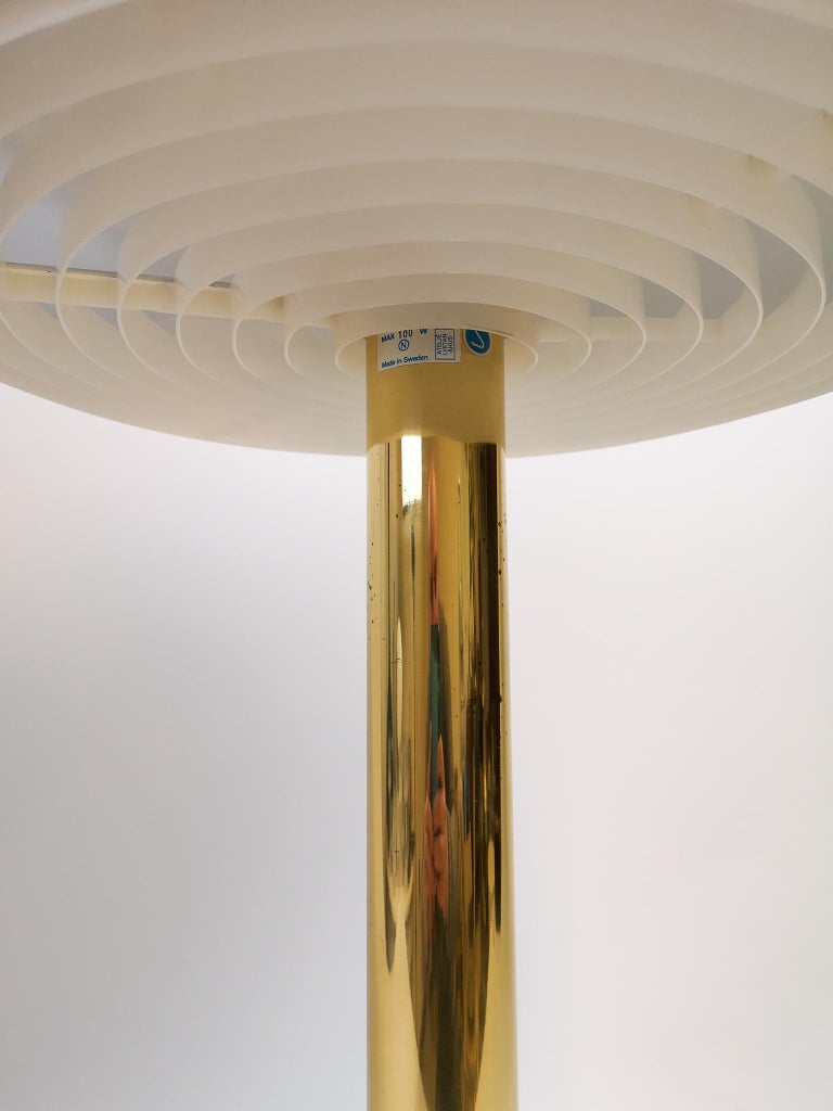 Brass Midcentury Large Table Lamp Bumling by Anders Pehrson for Ateljé Lyktan, 1960s
