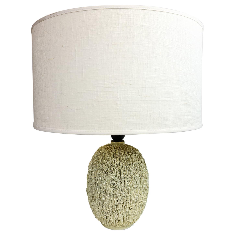 "Midcentury Large Table Lamp ""Chamotte"" Gunnar Nylund Rörstrand, Sweden"
