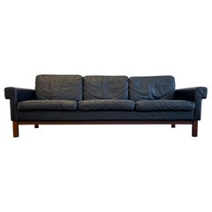 "Midcentury Leather and Teak Sofa ""Gotland"" Ikea, Sweden, 1967"