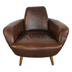 Midcentury Leather Armchair