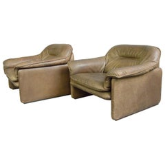 Midcentury Leather Chairs by De Sede, circa 1960s