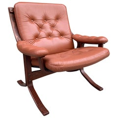 Midcentury Leather Lounge Chair