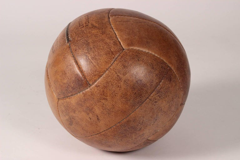 Mid-20th Century Midcentury Leather Vintage Medicine Ball by Lemnert Eichwald For Sale