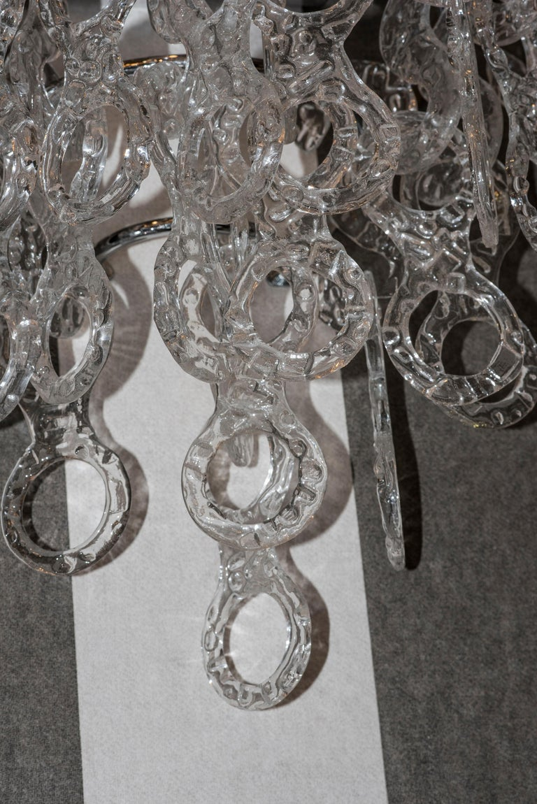 Italian  Murano  White Sconces Murano Italy White Crystal Couple of Sconces, 1960s For Sale