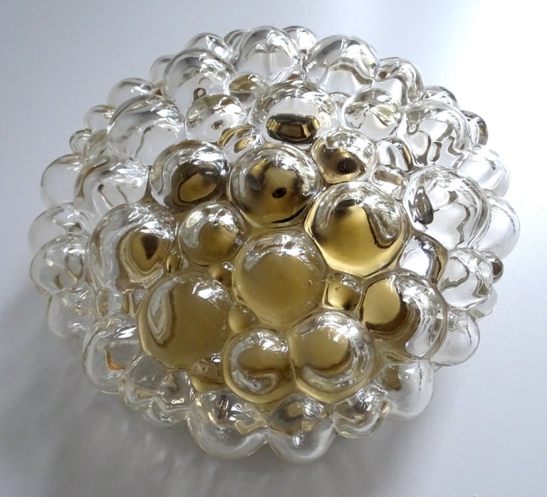 Midcentury Limburg Bubble Glass Sconce Flush Mount Light, 1960s For Sale 5
