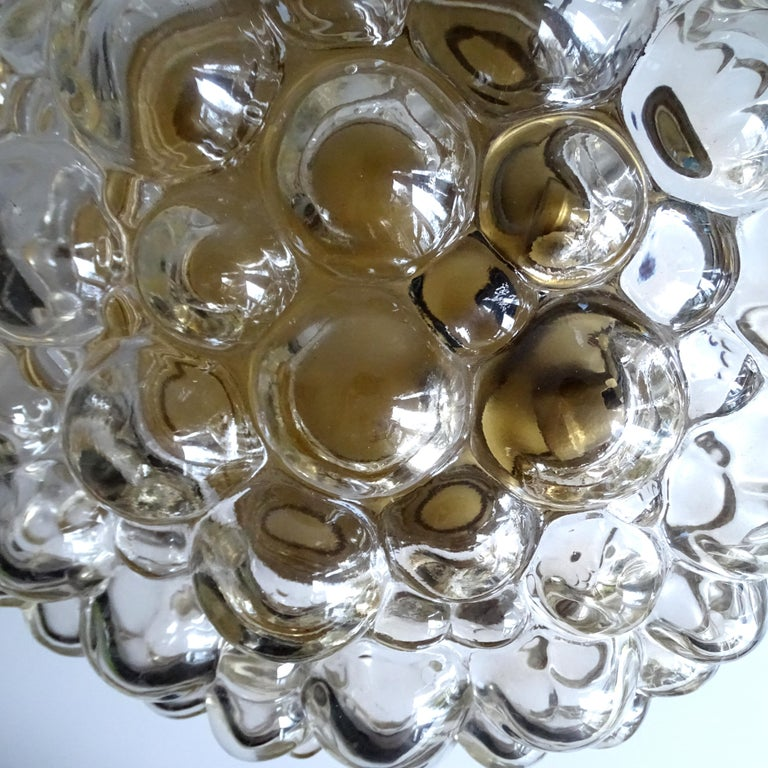 Midcentury Limburg Bubble Glass Sconce Flush Mount Light, 1960s For Sale 13