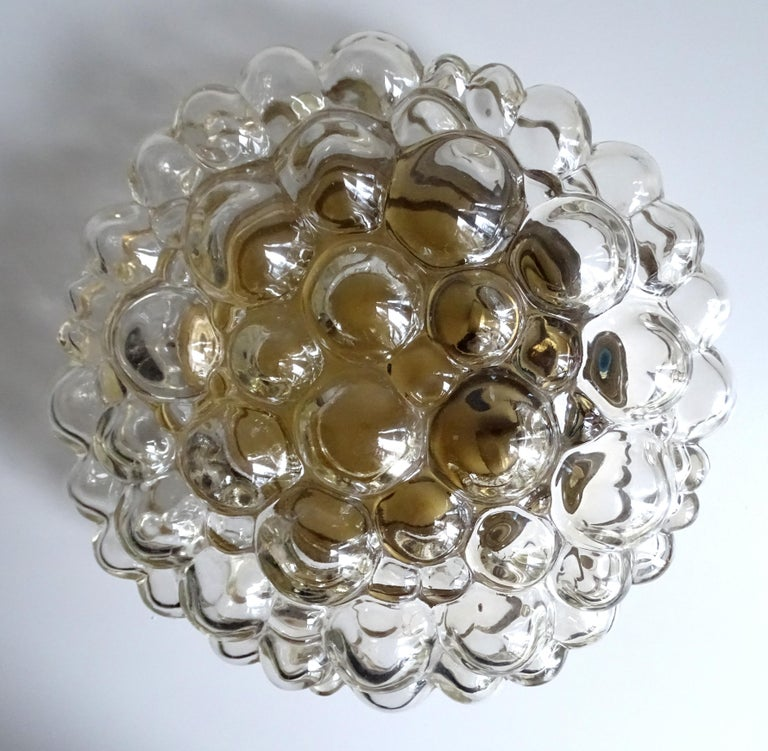Mid-Century Modern Midcentury Limburg Bubble Glass Sconce Flush Mount Light, 1960s For Sale