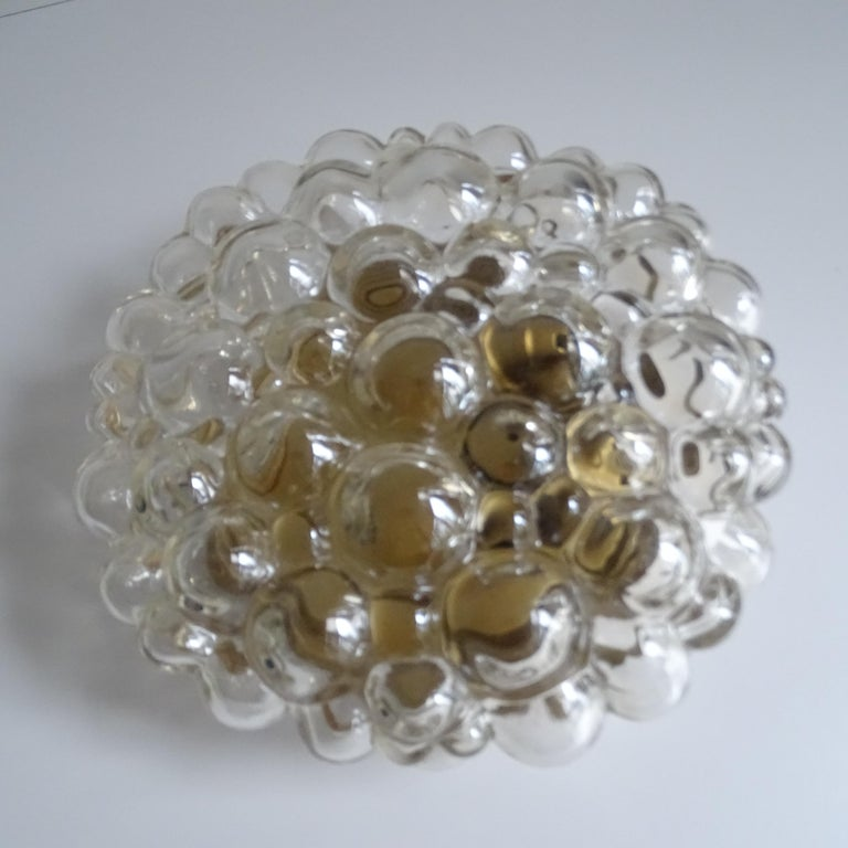 German Midcentury Limburg Bubble Glass Sconce Flush Mount Light, 1960s For Sale