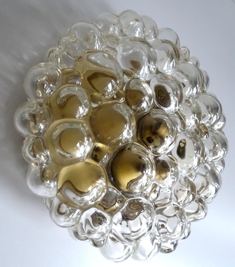 Midcentury Limburg Bubble Glass Sconce Flush Mount Light, 1960s For Sale 2