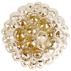 Midcentury Limburg Bubble Glass Sconce Flush Mount Light, 1960s