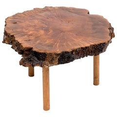 Midcentury Live Edge Walnut Coffee Table