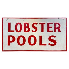 Midcentury Lobster Pools Trade Sign