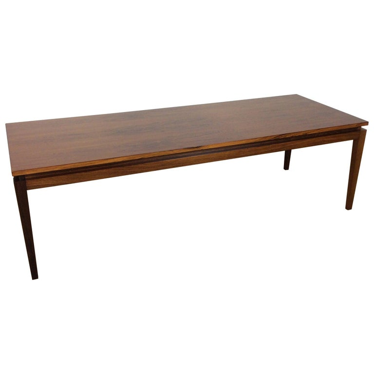 Midcentury Long Rosewood Table For Sale