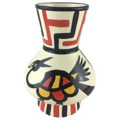 Midcentury Longwy Modernist Vase Model Lima, circa 1960s