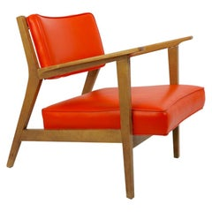 Midcentury Lounge Chair Attributed to Gunlocke after Risom