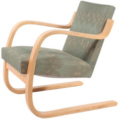 Midcentury Lounge Chair in Fabric by Alvar Aalto, Finland, 1960s