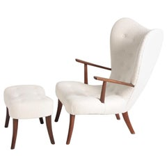 Midcentury Lounge Chair Model Pragh Designed by Ib Madsen & Acton Schubell