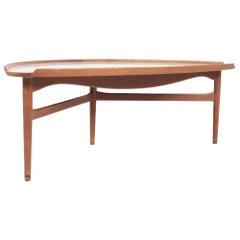 Midcentury Low Table Designed by Finn Juhl, Danish Design, 1950s