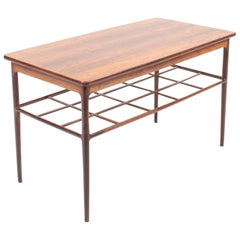 Midcentury Low Table in Rosewood, by a Danish Cabinetmaker, 1960s