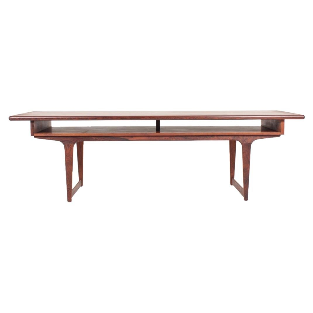 Midcentury Low Table in Rosewood, Made in Denmark, 1960s