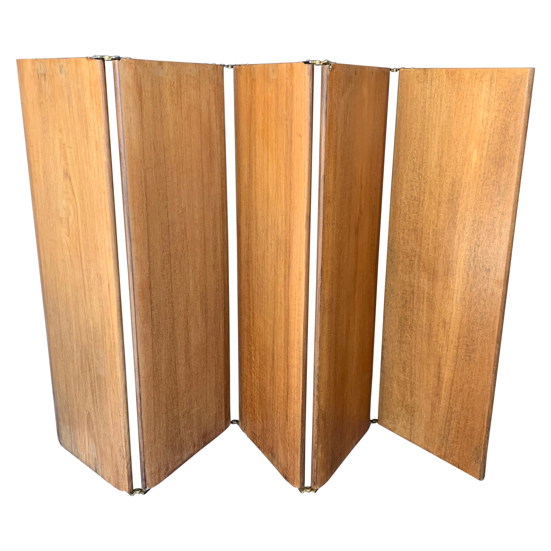Midcentury Low Wood Screen