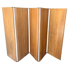 Midcentury Low Wood Screen