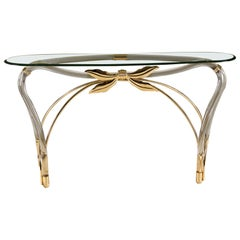 Midcentury Lucite 'Bow' Console Table